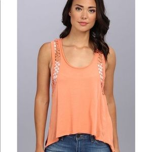 Free People Tank Top Neptune Knotted Panel Orange